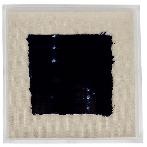 , Mini Indigo III Framed Textile