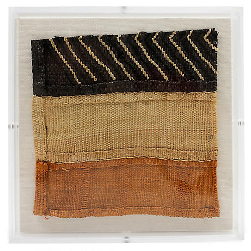 Mini Kuba Cloth II Framed Textile