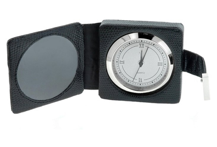Travel Clock w/ Picture Frame