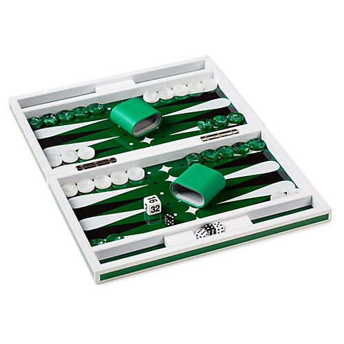 Zan Backammon Set, Green/Multi