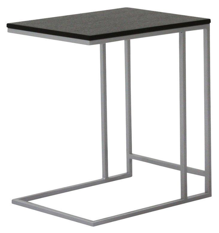DNU, Caleb Side Table, Black/Silver