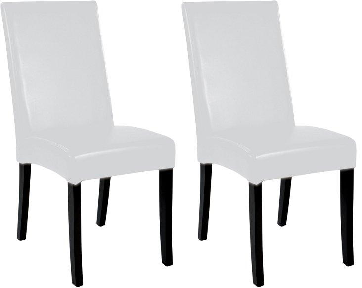 DNU, O-White Shantou Side Chairs, Pair