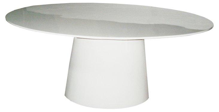 DNU. R-Ressler Dining Table, White