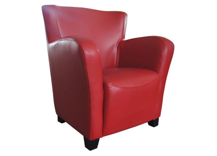 Tyne Club Chair, Red