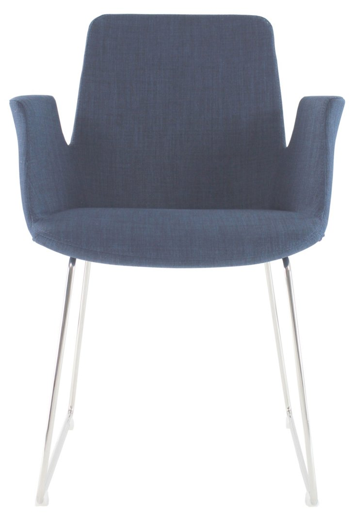 Clara Armchair, Blue