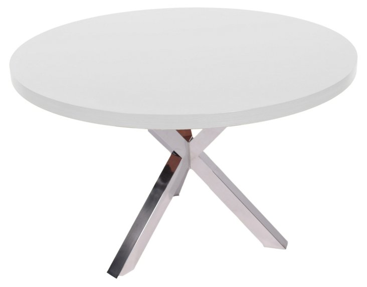 Redondo Dining Table, White