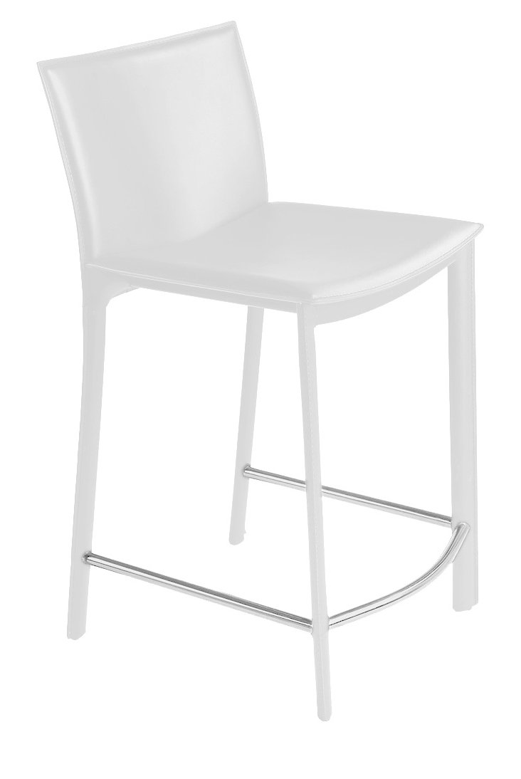 Panca Counter Stool, White