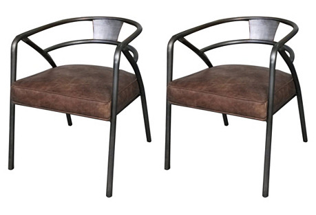 Strathaven Chairs, Pair