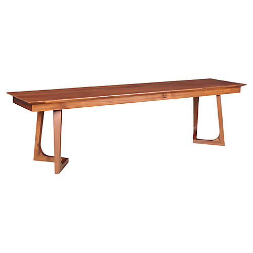 Porter Bench, Walnut