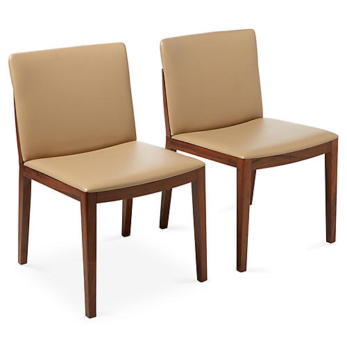 S/2 Shay Side Chairs, Tan