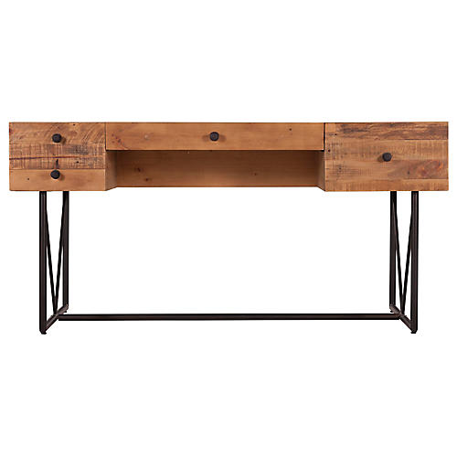 Orchard Reclaimed Wood Desk, Natural