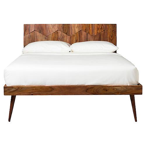 Vila Panel Bed, Natural