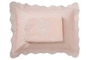 Queen Top Sheet/Sham Set, Pink