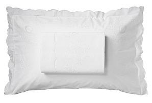 Full/Queen Top Sheet/Sham Set, White