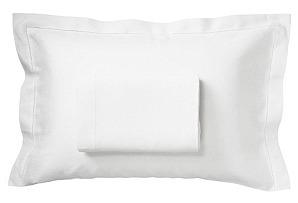 Hemstitch King Top Sheet/Sham Set, White