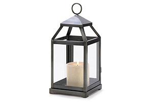 "S/2 12"" Contemporary Lanterns, Black"