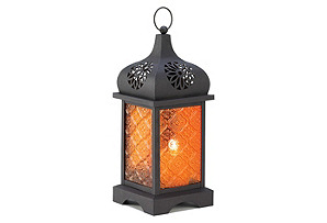 "S/2 12"" Moroccan Lanterns, Orange"