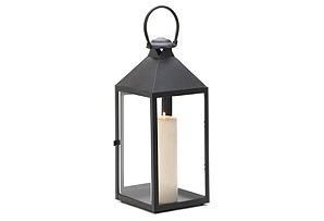 "16"" Americana Candle Lantern, Black"