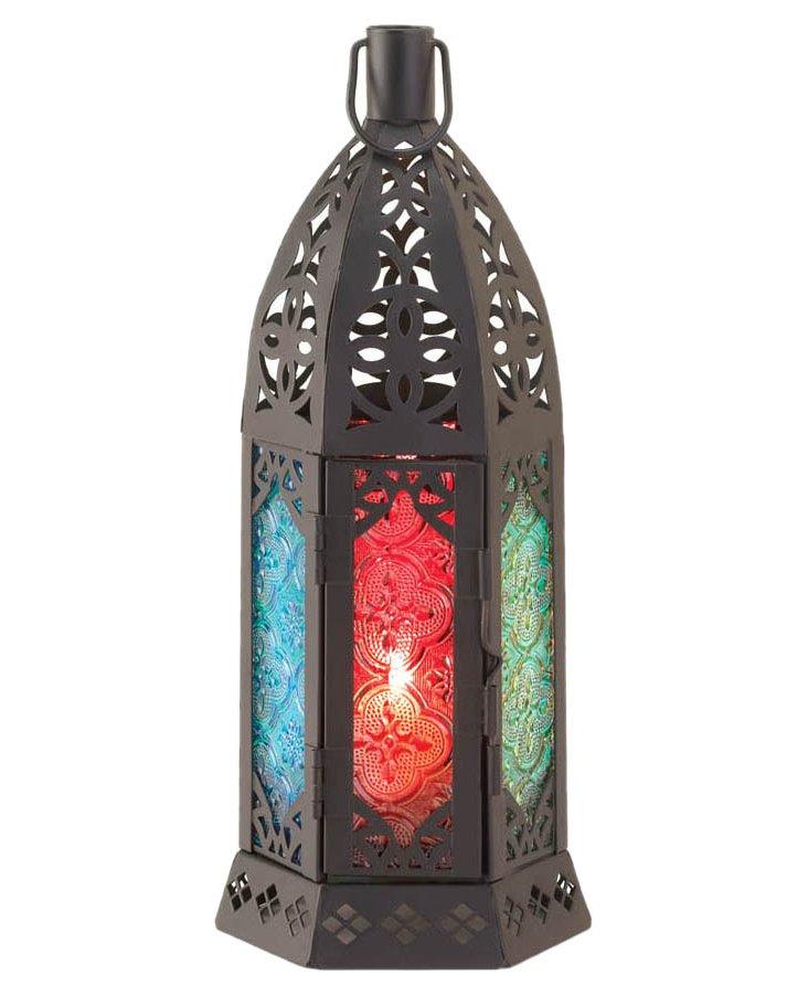 """S/2 10"""" Prism Lanterns, Multi"""