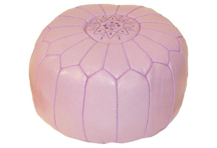 Moroccan Pouf, Lilac