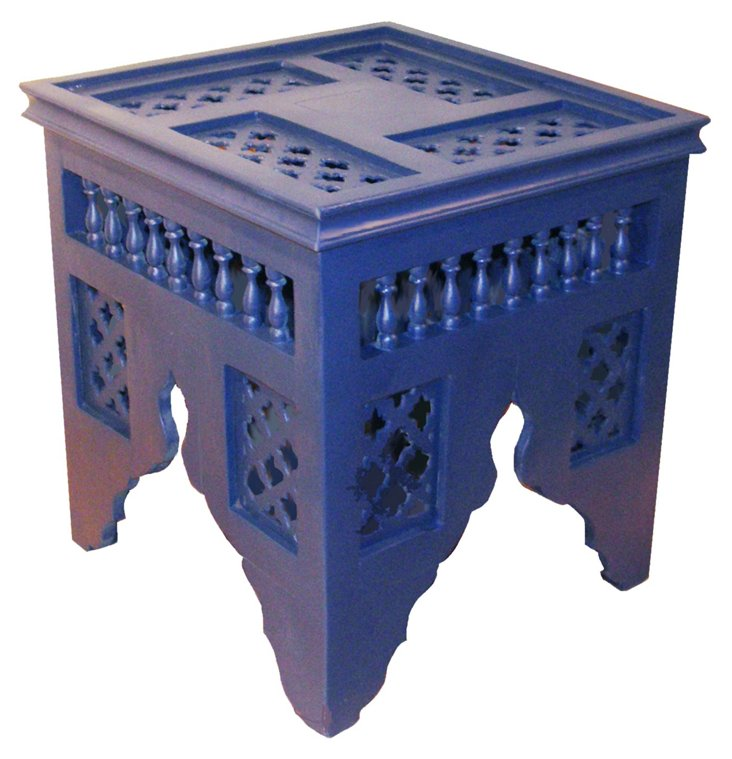 Classic Moroccan Table, Blue
