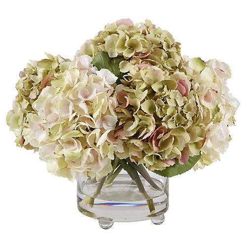 """15"""" Hydrangea in Vase, Faux"""