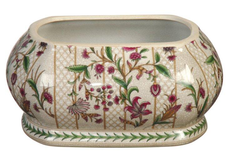 Trellis Flora Oblong Bowl