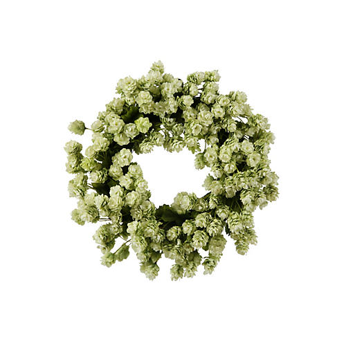 "16"" Hops Wreath, Faux"