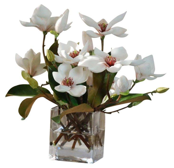 Magnolia w/ Foliage Cube