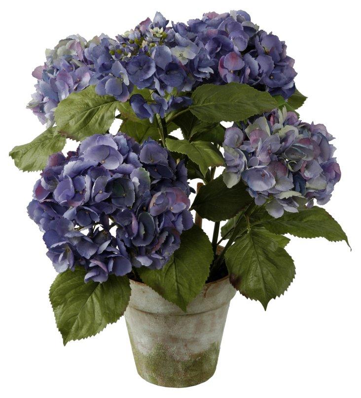 """22"""" Hydrangea in Pot,  Purple"""