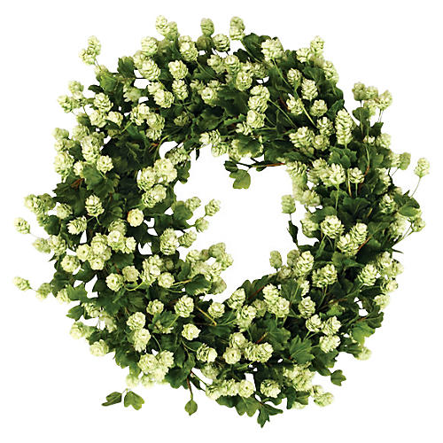 "30"" Hops Wreath, Faux"