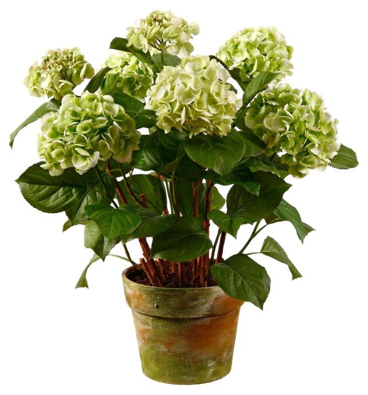 """34"""" Hydrangea in Pot, Faux"""