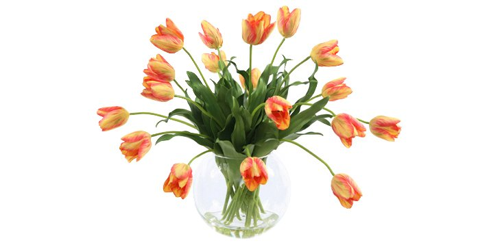 "26"" Tulips in Vase, Faux"