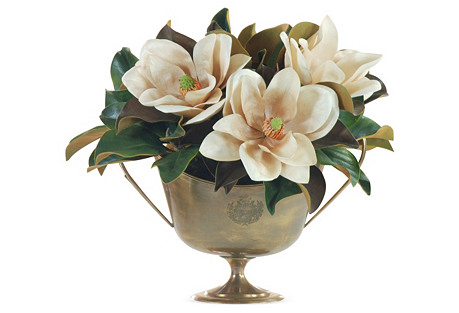 22'' Magnolia in Cup, Faux