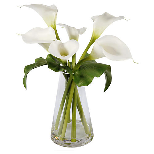 "21"" Calla Lily Arrangement, Faux"
