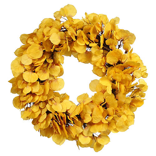 "24"" Aspen Leaf Wreath, Faux"