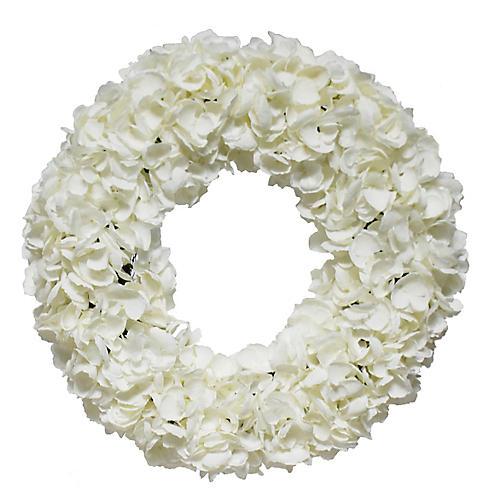 """36"""" Hydrangea Wreath, Faux"""