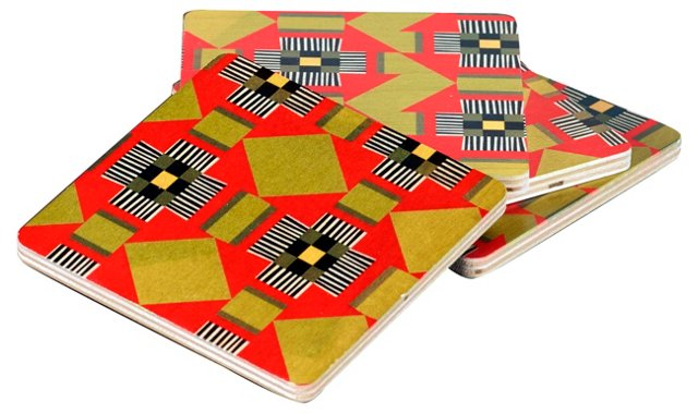 Lind Square Coasters, Set of 4