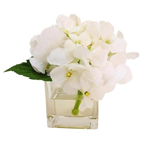 """6"""" Hydrangea in Vase, Faux"""