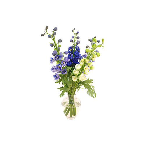 "19"" Delphinium in Garden Vase, Purple"
