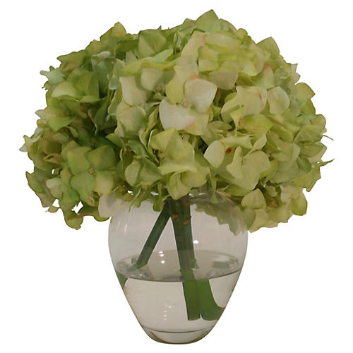"""9"""" Hydrangea in Vase, Faux"""