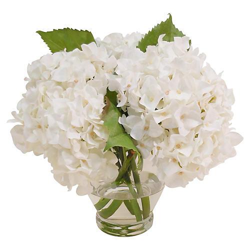 """12"""" Hydrangea in Vase, Faux"""