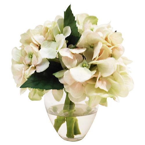 """9"""" Hydrangea in Garden Bouquet, Pink"""
