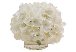 """10"""" Hydrangea in Vase, Faux"""