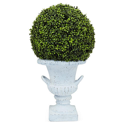 "30"" Boxwood in Urn, Faux"