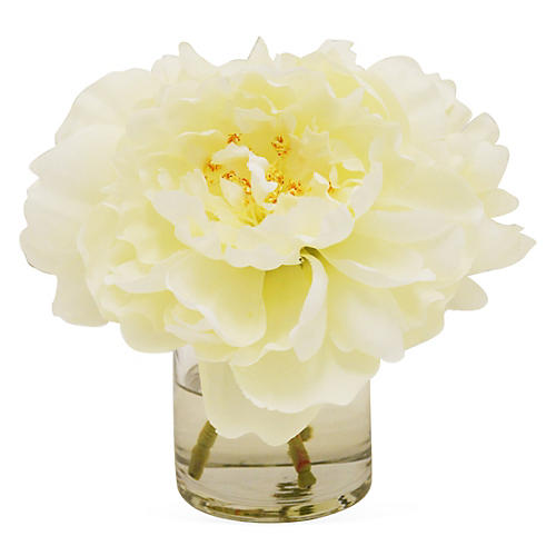 """7"""" Peony in Cylinder, Faux"""