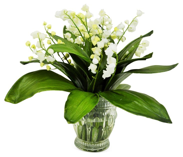"""10"""" Lily of the Valley, Faux"""
