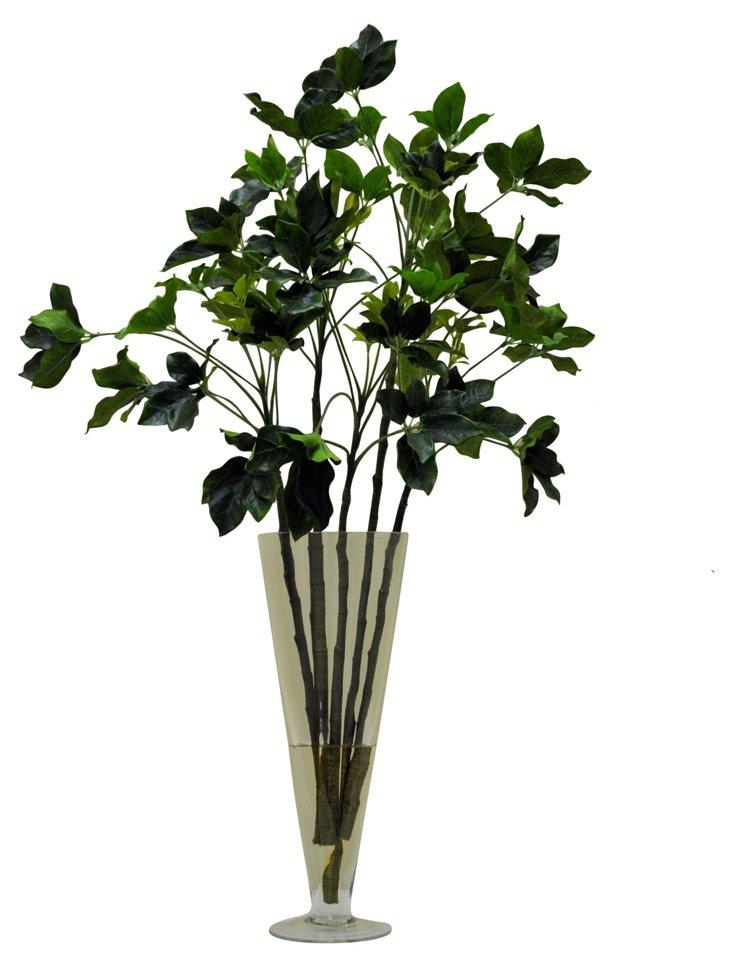 "35"" Garden Sprig in Vase, Faux"