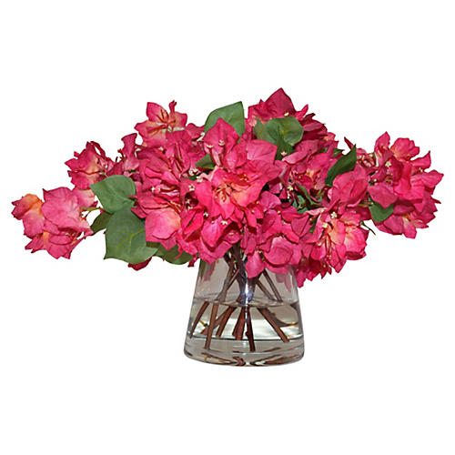 "22"" Bougainvillea in Vase, Faux"