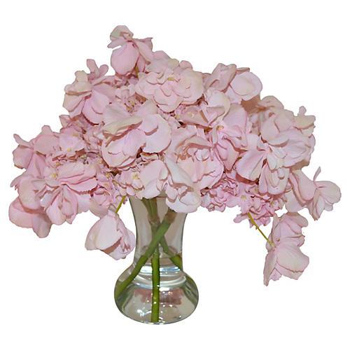 """12"""" Butterfly Hydrangea in Vase, Faux"""